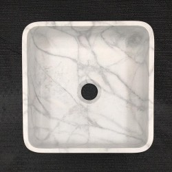 Persian White Honed Square Basin Marble 3307