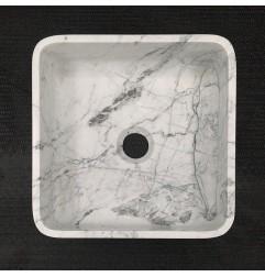 Persian White Honed  Square Basin Marble 3309