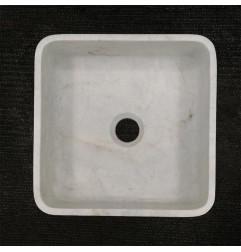 Persian White Honed  Square Basin Marble 3310