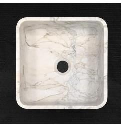 Persian White Honed  Square Basin Marble 3315