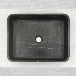 Pietra Grey Honed Rectangle Basin Limestone 3317