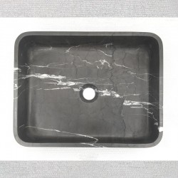 Pietra Grey Honed Rectangle Basin Limestone 3321