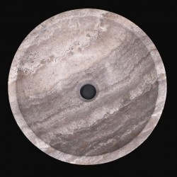 Silver Honed Round Basin Travertine 666