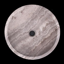 Silver Honed Round Basin Travertine 663