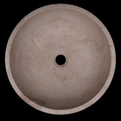 New Botticino Honed Round Marble Basin 990
