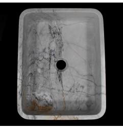 Persian White Honed Rectangle Basin Marble 1019