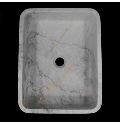 Persian White Honed Rectangle Basin Marble 1020