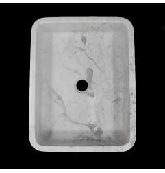 Persian White Honed Rectangle Basin Marble 1021