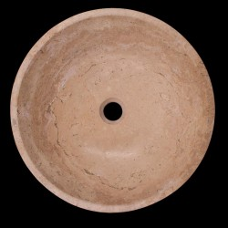 Noce Honed Round Basin Travertine 672