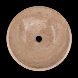 Noce Honed Round Basin Travertine 673