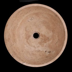 Noce Honed Round Basin Travertine 675
