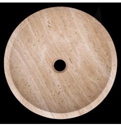 Noce Honed Round Basin Travertine 764