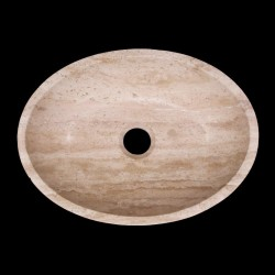 Classico Honed Oval Basin Travertine 838