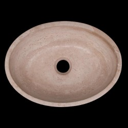 Classico Honed Oval Basin Travertine 841