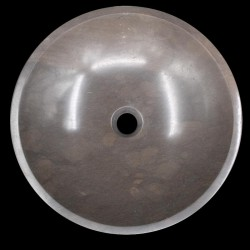 Pietra Brown Polished Round Basin Limestone 786