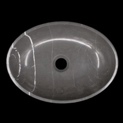 Pietra Grey Honed Oval Basin Limestone 1194