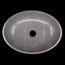 Pietra Grey Honed Oval Basin Limestone 1195