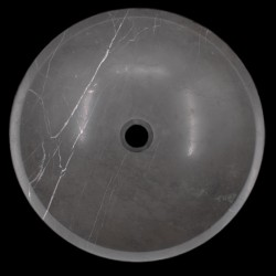 Pietra Grey Honed Round Basin Limestone 686