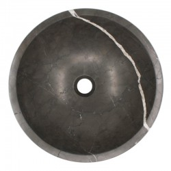 Pietra Grey Honed Round Basin Limestone 536