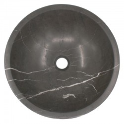 Pietra Grey Honed Round Basin Limestone 547