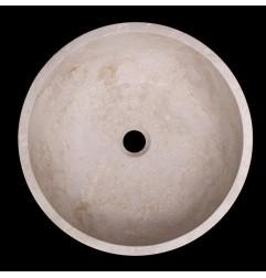 New Botticino Honed Round Marble Basin 1040