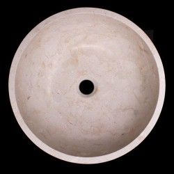 New Botticino Honed Round Marble Basin 1037