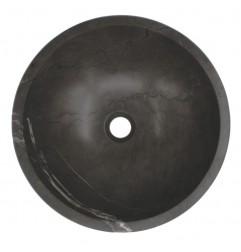 Pietra Grey Honed Round Basin Limestone 573