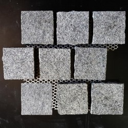 Pearl Black Flamed Brick Pattern Cobblestone Granite