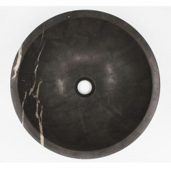 Pietra Grey Honed Round Basin Limestone 539