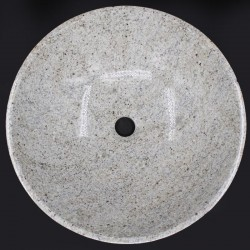 Kashmir White Polished Round Basin Granite KG02