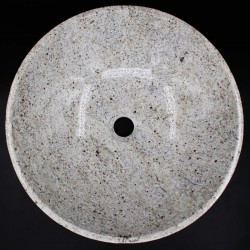Kashmir White Polished Round Basin Granite KG03