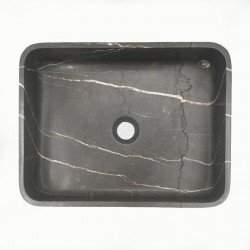 Pietra Grey Honed Rectangle Basin Limestone 3326