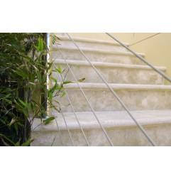 Travertine Classico Step Treads - Cross Cut - Unfilled & Honed