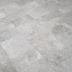 Tundra Blue Light French Pattern Antique Paver Limestone