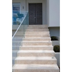 Travertine Classico Step Treads - Cross Cut - Epoxy Filled & Honed