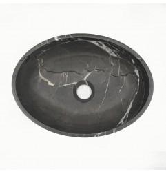 Pietra Grey Honed Oval Basin Limestone 3334