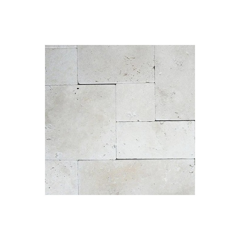 Travertine Chiaro Tumbled Tiles|French Pattern