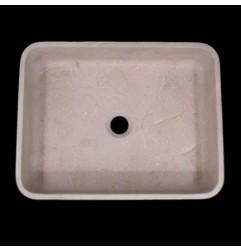 New Botticino Honed Rectangle Basin Marble 1105
