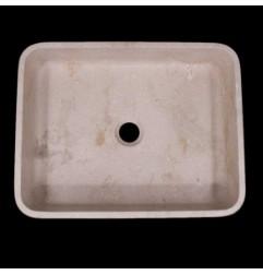 New Botticino Honed Rectangle Basin Marble 1107