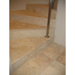 Travertine Classico Risers - Cross Cut - Epoxy Filled & Honed
