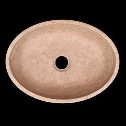Noce Honed Oval Basin Travertine 1079