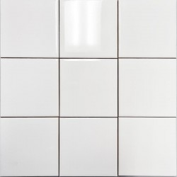 White Gloss Non-Rectified Subway Ceramic 100x100