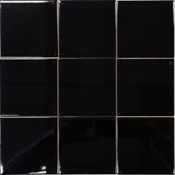 Black Gloss Non-Rectified Subway Ceramic 100x100