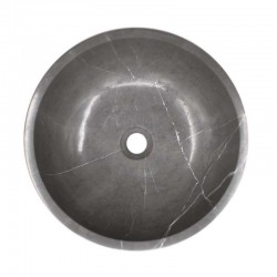 Pietra Grey Honed Round Basin Limestone 1591