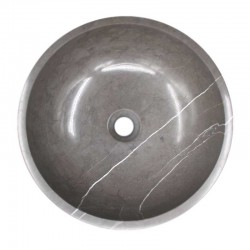 Pietra Grey Honed Round Basin Limestone 1589