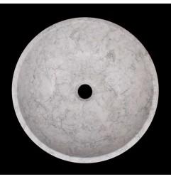 Bianca Perla Honed Round Basin Limestone 1586