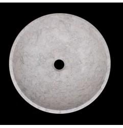 Bianca Perla Honed Round Basin Limestone 1585