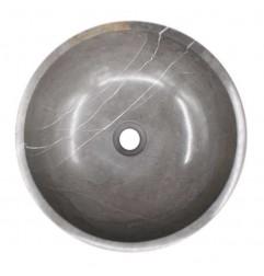 Pietra Grey Honed Round Basin Limestone 1592