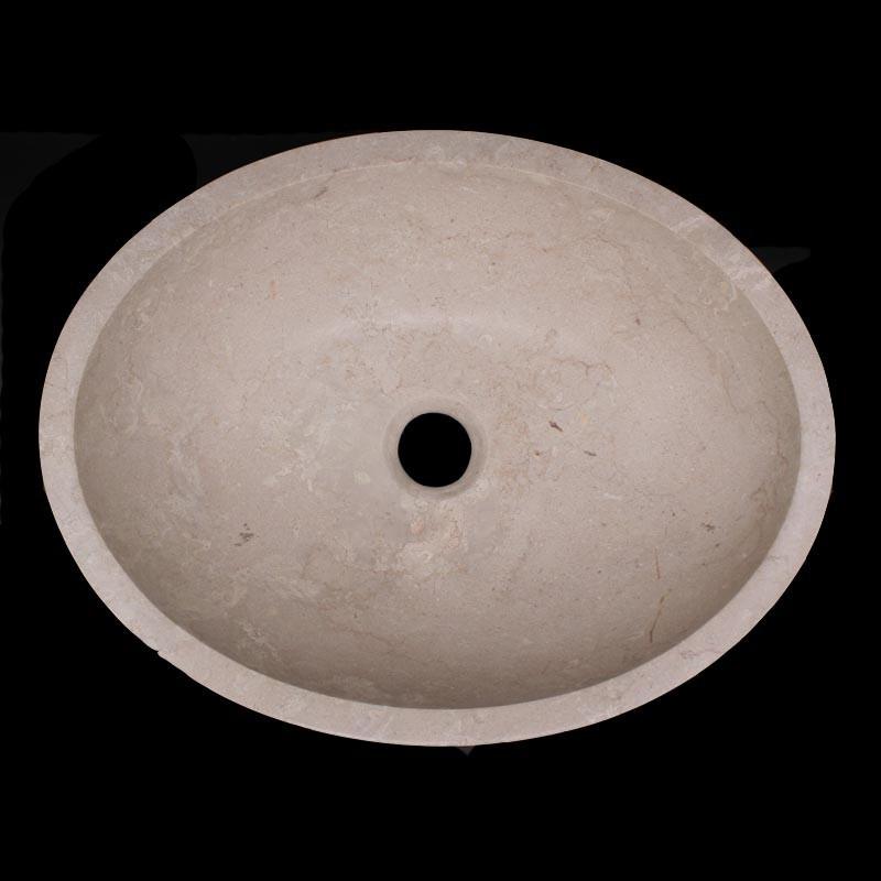New Botticino Marble|Oval | Honed| Stone Basins