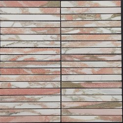 Norwegian Rose Kit Kat (Finger) Honed Marble Mosaic 148x15
